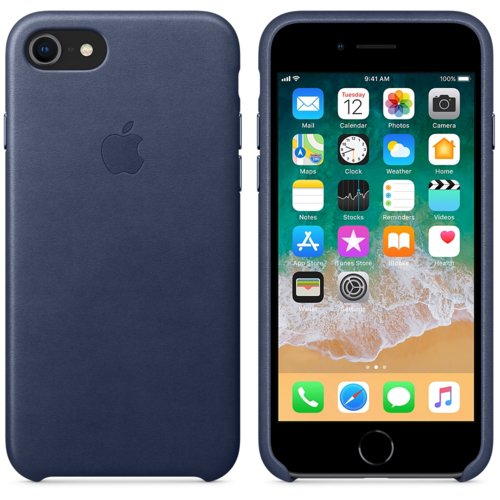 Apple iPhone 8 / 7 Leather Case MQH82ZM/A - Midnight Blue