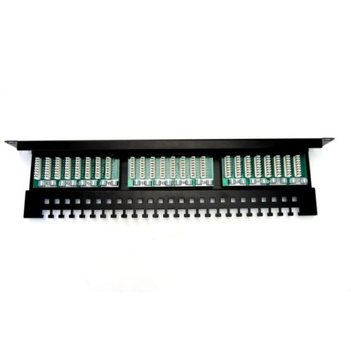 "Patch panel DIGITUS 19"" 24x RJ45 UTP kat. 5e z tacką"