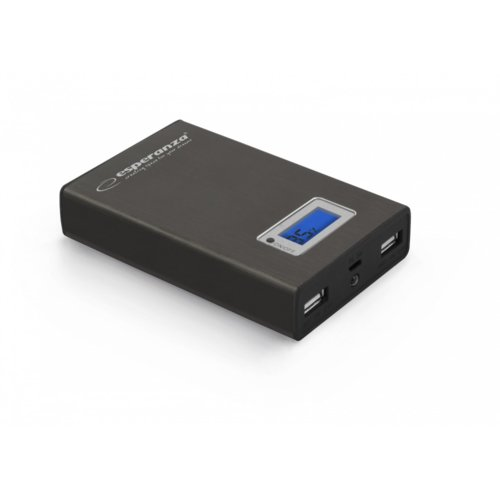 Esperanza POWER BANK KINETIC 8400mAh czarny