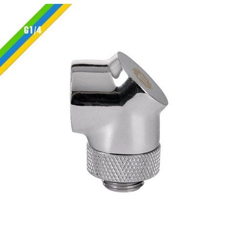 Thermaltake Pacific G1/4 90 złączka adapter kątowy - Chrome