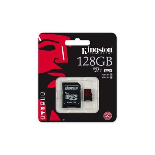 Kingston microSD 128GB UHS-I(U3)  90/80 MB/s