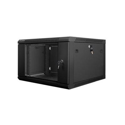 LANBERG Szafa instalacyjna wisząca 19'' 6U 600X600mm czarna (drzwi szklane)