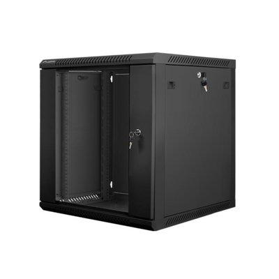 LANBERG Szafa instalacyjna wisząca 19'' 12U 600X600mm czarna (drzwi szklane)