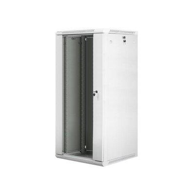 LANBERG Szafa instalacyjna wisząca 19'' 27U 600X600mm szara (drzwi szklane)